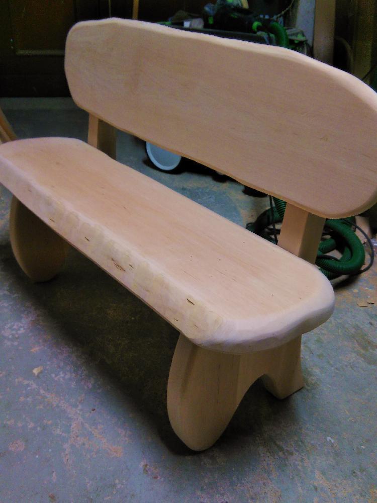 Kindersitzbank aus Erlenholz