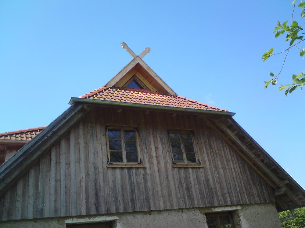 Dreiecksfenster oder Eulenauge  und Fenster aus Eiche alles geölt.  in Mecklenburg-Vorpommern.