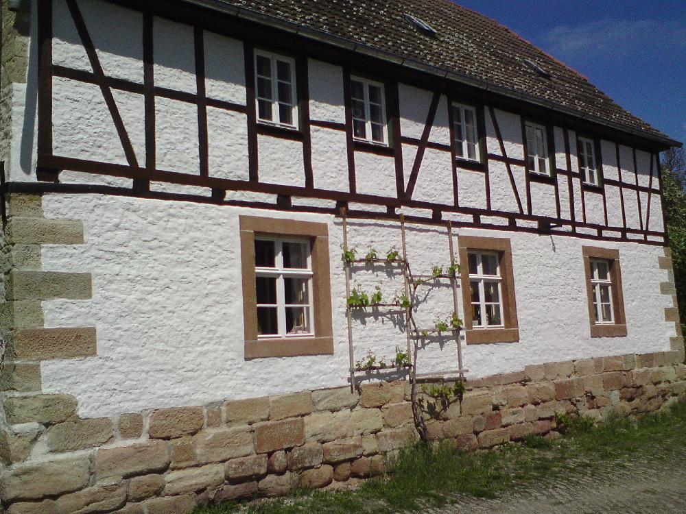 Amtsmühle Wendelstein (Sachsen Anhalt) Kastenfenster, Fensterbänke innen, Erweiterung der Einfachfenster durch sog. Winterflügel.